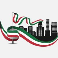Celebration of Kuwait national day vector
