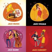 Ilustración de vector de concepto de diseño de música de jazz