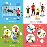 Soccer Players Design Concept Vector Illustration