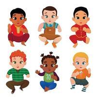 Ilustración de vector de conjunto internacional de bebé