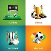 Soccer Icons Concept Vector Illustration