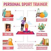 Personal Sport Trainer Flowchart Vector Illustration