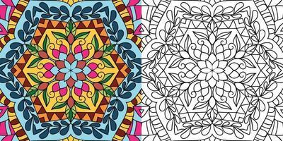 Doodle zentangle página de libro para colorear para adultos y niños vector