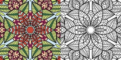 Doodle Zentangle coloring book page for adults and children vector