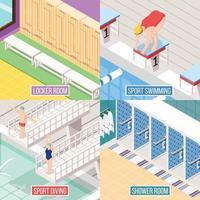 Ilustración de vector de concepto de diseño de natación deportiva