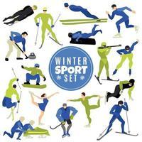deportes de invierno conjunto ilustración vectorial vector