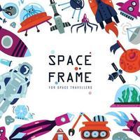 Flat Space Frame Vector Illustration