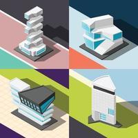Ilustración de vector de concepto de diseño de arquitectura futurista 2x2