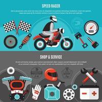 Speed Racer Horizontal Banners vector