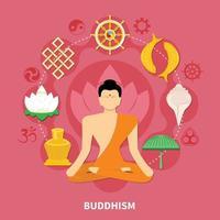 religiones composición plana y coloreada. vector