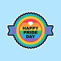 Happy Pride Day Sticker LGBT Color Background