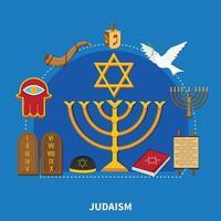 composición plana de religiones vector