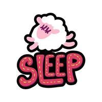 ilustración de marco cosido de oveja vector