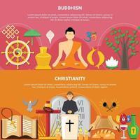 conjunto de volante plano de religiones vector