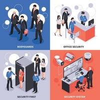 Security Isometric Design Concept Vector Illustration
