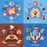 concepto de diseño de ayuda de caridad vector
