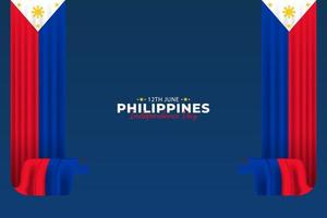 Philippine Independence Day. Celebrated annually on June 12 in Philippine. vector