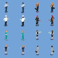 conjunto de ropa de utilidad profesional ilustración vectorial vector