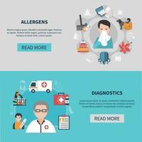 Allergy Banners Set vector