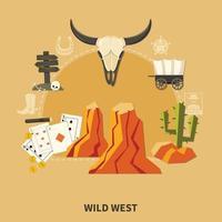 composición del salvaje oeste vector