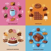 Ilustración de vector de concepto plano de chocolate