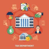 composición de la ronda del departamento de impuestos vector