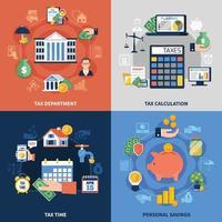 concepto de diseño de impuestos vector