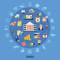 Taxes Round Composition vector