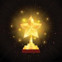 Award Gold Star Background Illustration Vector Illustration