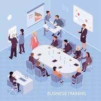 Business Training Isometric Illustration Vector Illustration