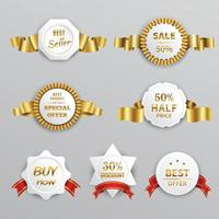 Sale Labels Set Vector Illustration