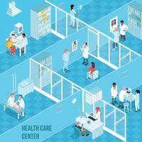 Health Care Center Isometric Illustration Vector Illustration