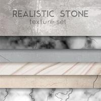 Stone Texture Samples Realistic Set Vector Illustration