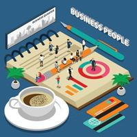 Business People Isometric Concept Vector Illustration