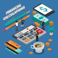 Isometric Business People Concept Vector Illustration