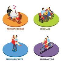 Dating 2x2 Design Concept Vector Illustration