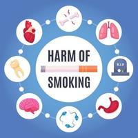 Harm Of Smoking Design Concept Vector Illustration