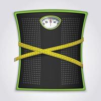 Ilustración de vector de concepto realista de fitness de pérdida de peso