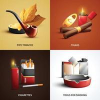 Ilustración de vector de concepto de diseño de productos de tabaco