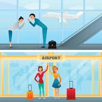 Meeting Greeting Gestures Characters Compositions Vector Illustration