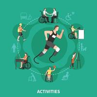 Disabled Person Concept Vector Illustration