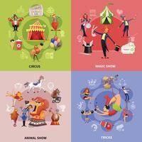 Ilustración de vector de concepto de dibujos animados de circo
