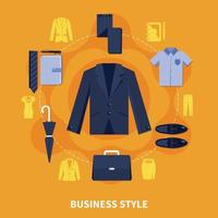 Clothes Colored Composition vector