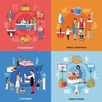Supermarket People Design Concept Vector Illustration