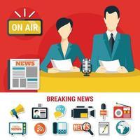 concepto de diseño de noticias de última hora vector
