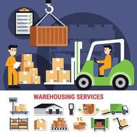 Warehouse Icons Collection vector