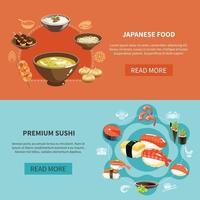 Sushi Flyer Set vector