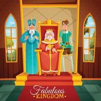 Fabulous Kingdom Cartoon Illustration Vector Illustration