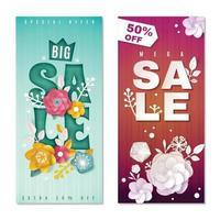 Ilustración de vector de banners verticales de gran venta