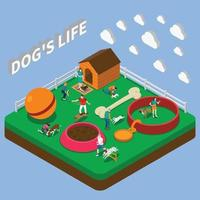 People With Pets Composition Vector Illustration